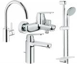 Набор смесителей для ванны + кухонный смеситель GROHE Eurosmart Cosmopolitan 126115MK