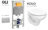 Комплект инсталляции Oli 80 Diamante Evo с кнопкой Slim + унитаз Kolo Idol M1310000U