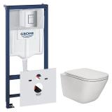Комплект инсталляция GROHE RAPID SL 38772001+унитаз ROCA GAP Clean Rim A34H470000 с сиденьем soft sl