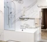 Liberta Capri 75x1500 стекло прозрачное, л/п, скругленные края