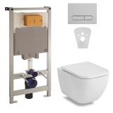 Комплект инсталляция VOLLE Master 4в1 141515 + унитаз VOLLE ORLANDO 13-35-373 сид soft.