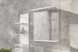 Шкафчик зеркальный Буль-Буль 580x260x710 (ШЗ-8) белый