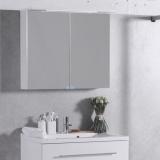 Шкафчик зеркальный Буль-Буль 800x270x700 (ШЗ-10) белый
