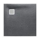 Душевой поддон Roca Terran 900x900 графит + трап + сифон AP0338438401200