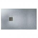 Душевой поддон Roca Terran 1200x800 прямоугольный, серый цемент + трап + сифон AP014B032001300