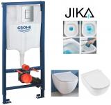Инсталляция GROHE RAPID SL 38772001 + унитаз без ободка JIKA MIO H82071400000 с сид. soft H89171