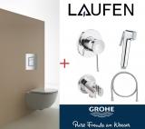 GROHE RAPID SL 38772001+гигиенич. набор GROHE 111048+унитаз LAUFEN PRO 2096.6 с сид. slim soft-close