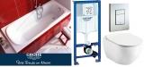 Комплект ванна Ravak Vanda 170x70 + унитаз Ravak Uni Chrome RimOff + инсталляция Grohe 387721001