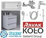 Комплект ванна KOLO MODO 170x75 + набор смесителей Ravak Classic + тумба Буль-Буль Borneo 60