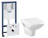 Комплект инсталляции GROHE RAPID SL 38772001 + унитаз Cersanit Carina Clean On soft 38840CК3