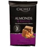 Шоколад Cachet Milk Chocolate молочный с миндалем и изюмом, 300гр. Бельгия 32%