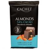 Шоколад Cachet Dark Chocolate - темный с миндалем, 300гр. Бельгия 53% Премиум шоколад