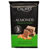 Шоколад Cachet Milk Chocolate молочный с миндалем, 300гр. Бельгия 32%