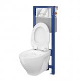 Инсталляция CERSANIT Aqua 02 Intera + унитаз CERSANIT Moduo Clean On с сид. slim soft B209 S701-394